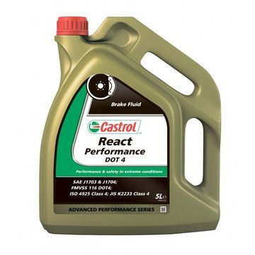 LICHID DE FRÂNĂ CASTROL REACT PERFORMANTA DOT 4, 5 L